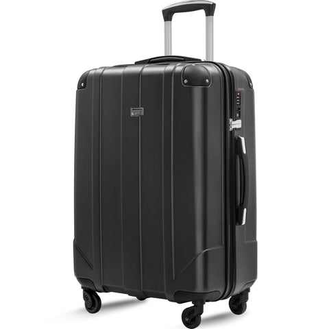 "Spinner Luggage with Built-in TSA and Protective Corners, P.E.T Light Weight Carry-On 20"" 24"" 28"" Suitcases (28 inch)"