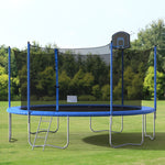 U_STYLE 14' Round Trampoline with Safety Enclosure