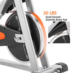 Indoor Cycling Bike Stationary, Belt Driven Smooth Exercise Bike with Oversize Soft Saddle and LCD Monitor