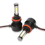 72W 16000LM 4-Sides H11/H8/H9 LED Headlight Kit Low Beam / Fog Light Bulbs 6000K