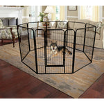 High Quality Wholesale Cheap Best Large Indoor Metal Puppy Dog Run Fence / Iron Pet Dog Playpen