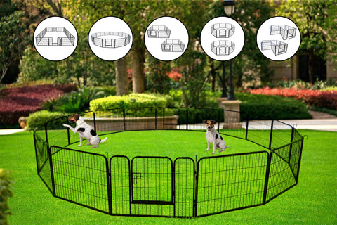 2019 High Quality Portable outdoor folding 16-panel heavy duty metal pet playpen