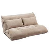 Oris Fur. Adjustable Foldable Modern Leisure Sofa Bed Video Gaming Sofa with Two Pillows