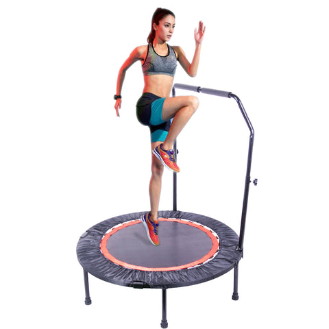 40 Inch Mini Exercise Trampoline for Adults or Kids - Indoor Fitness Rebounder Trampoline with Safety Pad | Max. Load 300LBS