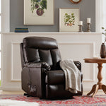 ORIS FUR. Lift Chair and Power PU Leather Living Room Heavy Duty Reclining Mechanism (Brown)