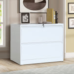 Lateral File Cabinet 2-Drawer with Lock and Key