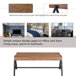 Coffee Table for Living Room Thickened Design Center Table with Metal Legs, Durable Metal Frame Easy Assembly (Brown)