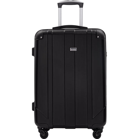 "Spinner Luggage with Built-in TSA and Protective Corners, P.E.T Light Weight Carry-On  24""  Suitcases (24 inch)"