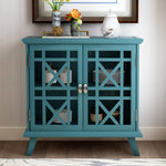 Wood Door Accent Cabinet with Adjustable Shelf Storage Cabinet for Hallway Dining Console Table