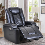 Power Motion Recliner with USB Charge Port and Cup Holder -PU Leather Lounge chair for Living Room