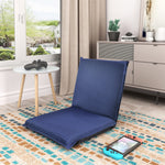 ORIS FUR. Multi-Function Folding Floor Cushion Chair Sofa Lazy Sofa, Blue (Blue)