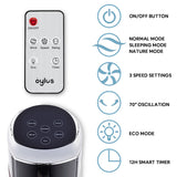 Tower Fan 48 IN Oscillating with Remote Control 12H Timer 3 Speed 3 Modes for Home Office Fan White