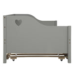Wood Twin Daybed with trundle, loving shape, Gray