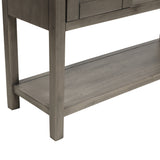 U-style Rustic Sofa Console Table with 2 Sliding Doors, Entryway, Hallway
