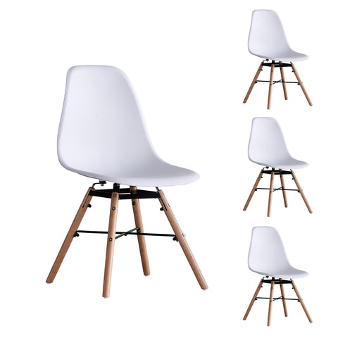 Square-legged Eames chair set of 4