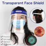 Safety Face Shield Protection Cover Guard Reusable Transparent Anti-Fog Clear
