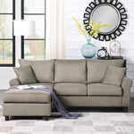 Sectional Sofa Couch,L-Shaped Couch for Small Space,Grey