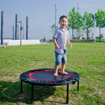 40 Inch Mini Exercise Trampoline for Adults or Kids - Indoor Fitness Rebounder Trampoline with Safety Pad | Max