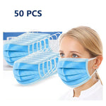 50Pcs Disposable 3-Layer Masks, Anti Dust Breathable Disposable Earloop Mouth Face Mask,