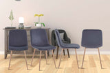 Dinning Chair 4PCS(GREY),Modern style,New technology,Suitable for restaurants, cafes, taverns, offices, living rooms, reception rooms.Simple structure, easy installation.