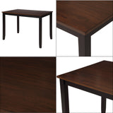 5-Piece Dining Table Set Home Kitchen Table and Chairs Wood Dining Set