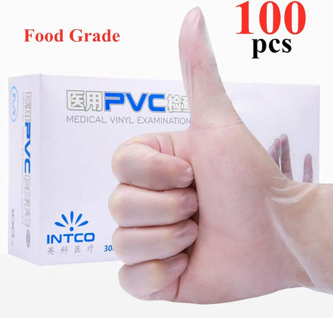 100pcs/Box Disposable Gloves Vinyl Gloves Gloves ( L SIZE)
