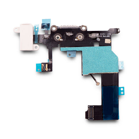 Charging Port & Headphone Jack Flex Cable For iPhone 5 - White