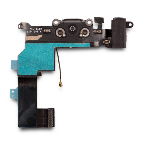 Charging Port & Headphone Jack Flex Cable For iPhone SE - Black