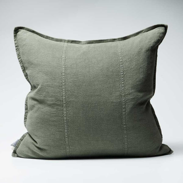 Luca Linen Cushion Khaki - 50x50