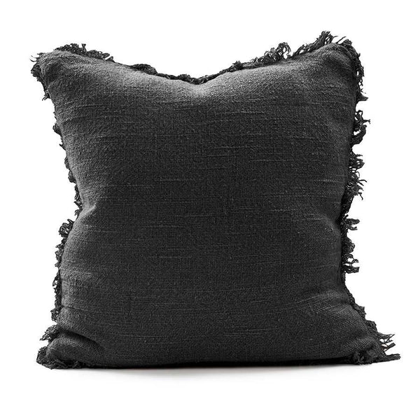 Bedouin Linen Cushion - Black 50cm x 50cm