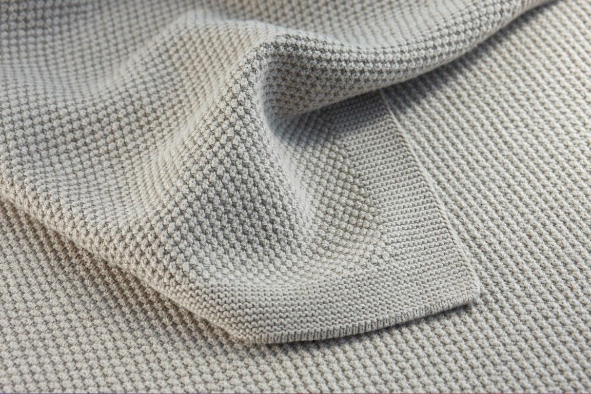 Bemboka Moss Stitch Cotton Throw - Wheat