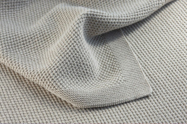 Bemboka Moss Stitch Cotton Blanket - King/Queen - Wheat