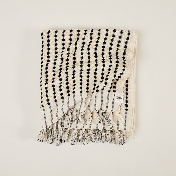 Hand Loom Cotton Handtowel in Natural