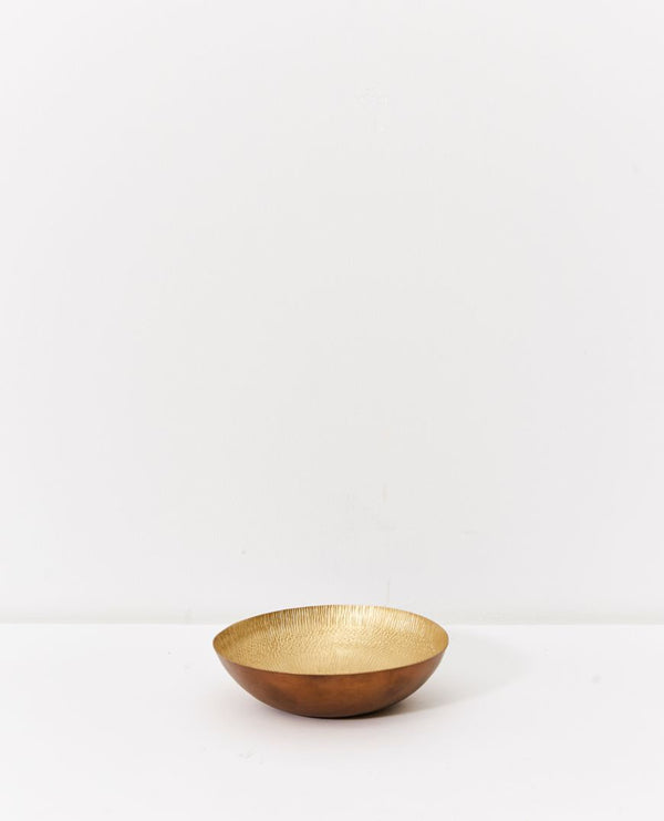 Dante Patterned Brass Bowl - Small