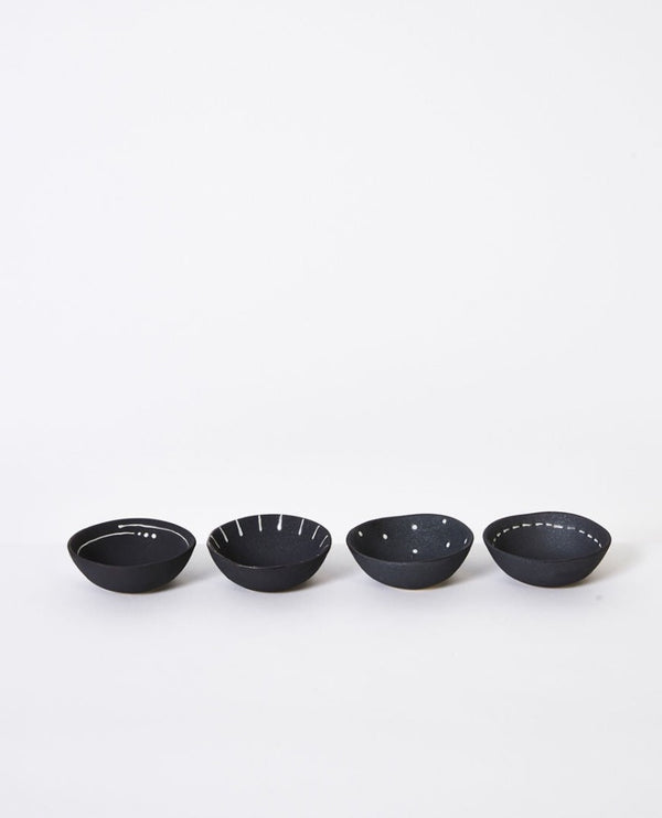Emiko Condiment Bowl Mini Charcoal set 4