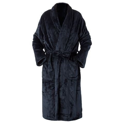 Brogo Supersoft Mirco Mink Bathrobe Ink-S/M