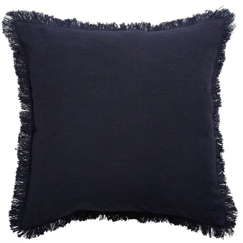 Monaco Fringe Cushion - Slate