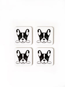 Coasters - French Bulldog set of 4