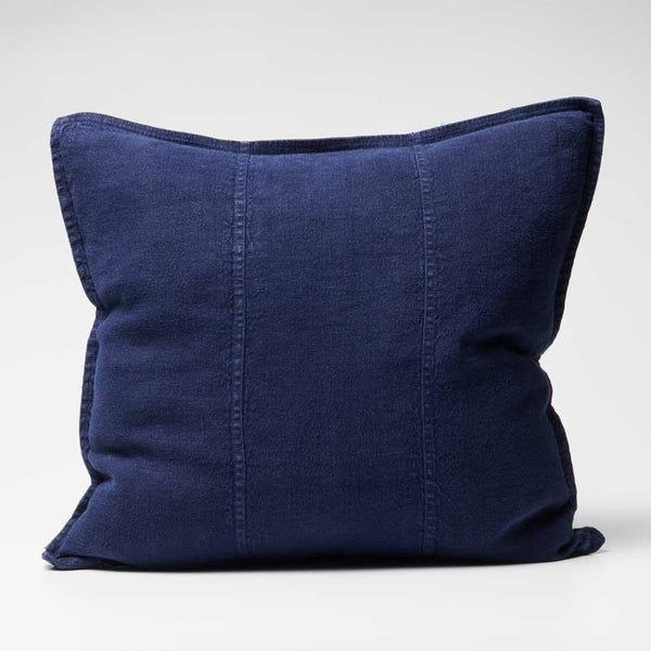 Luca Linen Cushion Navy - 50x50