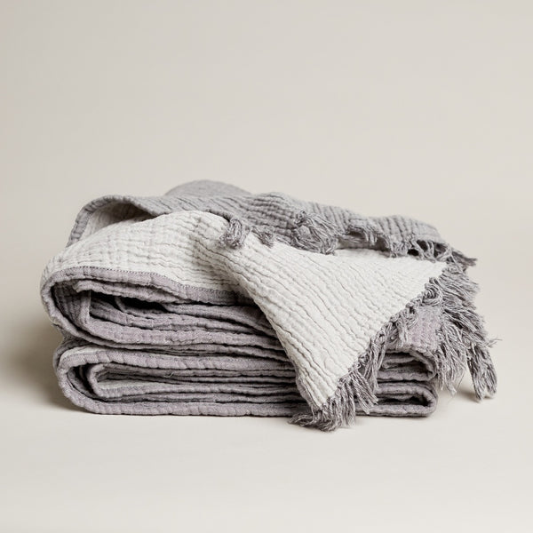 Enes Cotton Throw Charcoal/Grey