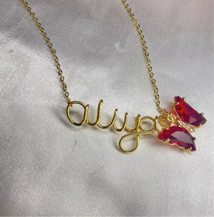 Personalised handmade butterfly necklace