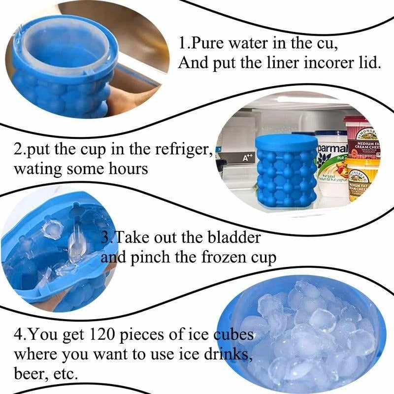 Ice Cube Maker-Space Saving Fun Party Kitchen Tools Mould(BUY 2 FREE SHIPPING)
