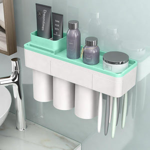 Magnetic Adsorption Toothbrush Holder  Toothpaste Squeezer