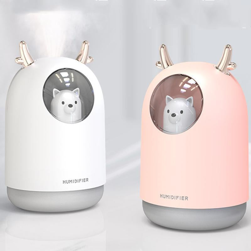 Cute Portable USB Mini Humidifier With Night Light