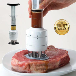 Useful Sauce Injector Meat Pounder Tenderizer