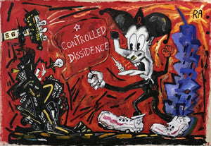 "Pedro Vizcaino Controlled Dissidence #1  Mixed Media On Canvas  38"" x 54""  2020"