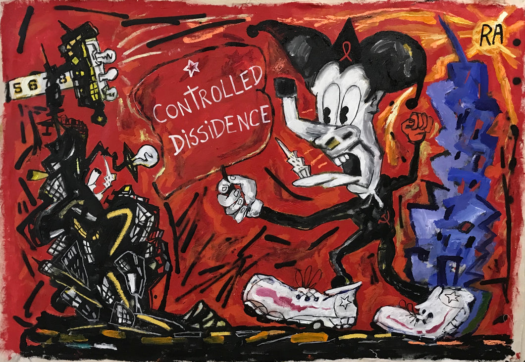 Pedro Vizcaino Controlled Dissidence #1  Mixed Media On Canvas  38