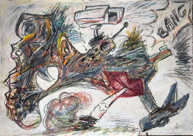 Pedro Vizcaino Gangueros Series II #1  Mixed Media on Paper  22