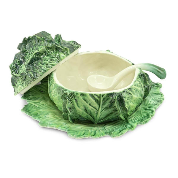 SOUP BOWL CABBAGE WITH PLATE
