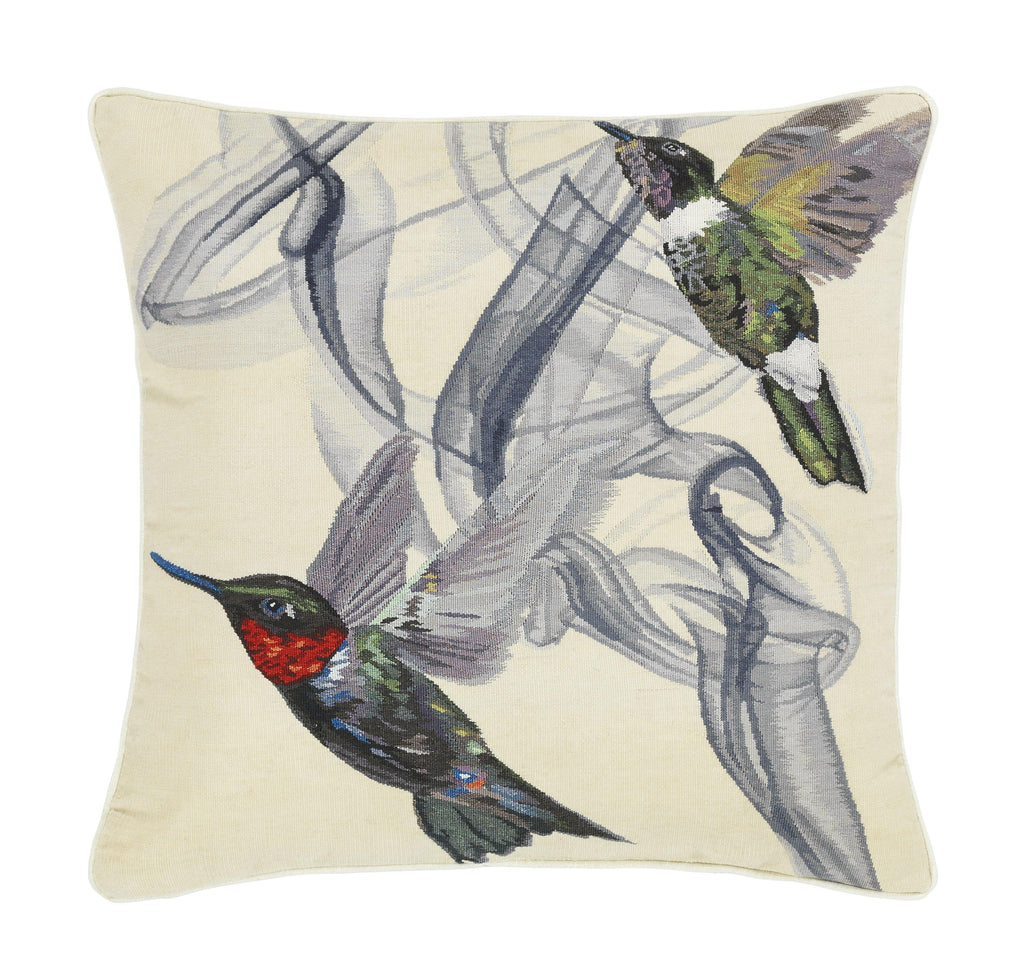 Hummingbird Cushion Ivory by Alexander Mc Queen